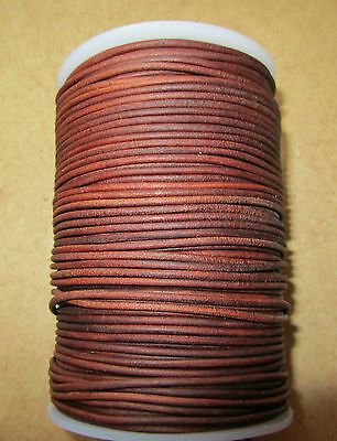 Top Quality 2mm Supple Antique  Goat Leather Cord ( COGNAC)