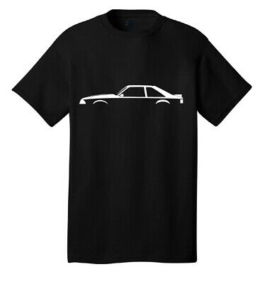 Ford Mustang Foxbody Silhouette t-shirt Classic Muscle Cars Racing Fastback 302