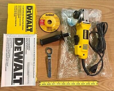 """DeWALT Angle Grinder 4-1/2"""" Heavy Duty 120V 7.5 Amp Corded and Accessories DW402"""