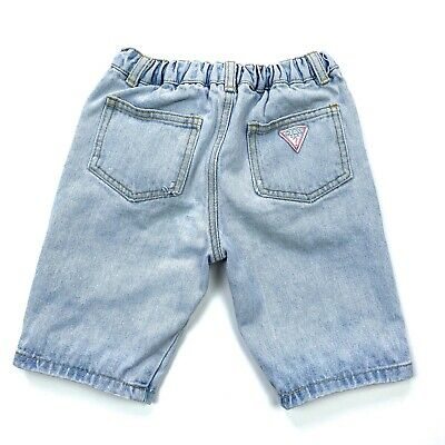 Vtg 90s Baby Guess Retro Light Wash Denim Shorts Made in USA Girls 6Y