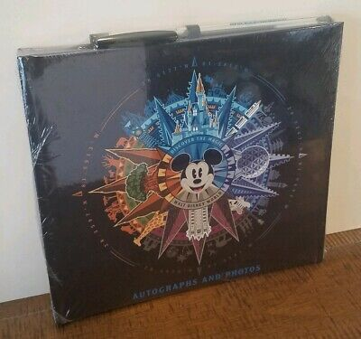 """NEW Disney WDW 4 Park """"Discover The Magic"""" Autographs And Photos Book W/ Pen"""