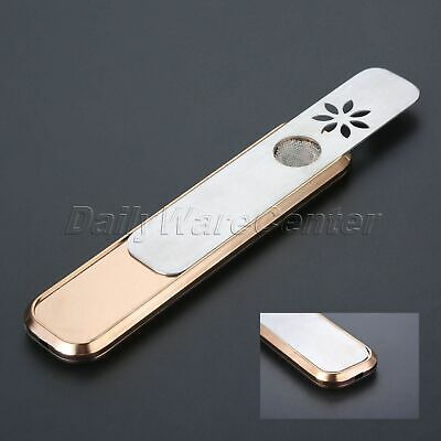 Fashion Aluminum alloy Tobacco Herb Pipe Brown Portable Dry Burner Smoking Pipe