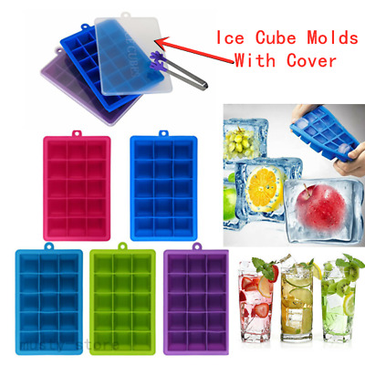 Silicone Fruit Moulds Candy Geometric Shape Maker Jelly Ice Cube Soft Molds Tray