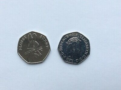2018 Flopsy Bunny  50p coin, Beatrix Potter series from a sealed Post Office bag
