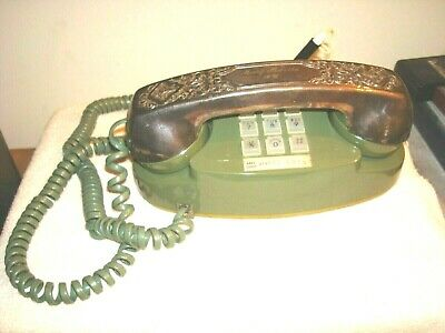 Vintage Bell Western Electric 12 Push Button Telephone With Ornate Handle Cover