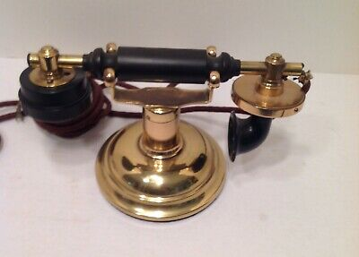 Loeffler - Phone Desk Telephone Brass Polished Out Good Shape