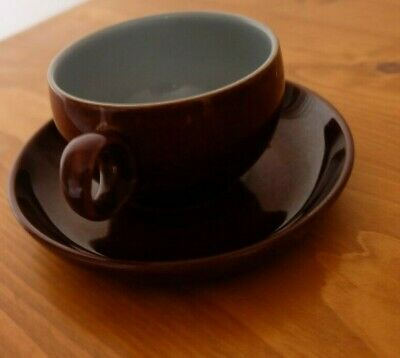 Denby Homestead Brown Cup And Saucer x 2