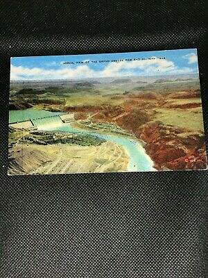 Aerial View Of The Grand Coulee Dam and Vicinity Postcard