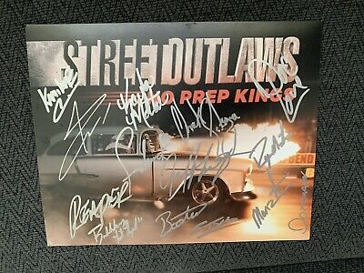 15 OKC STREET Outlaws Cast Signed 405 Hat New Oklahoma City