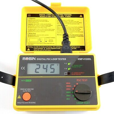 ROBIN KMP 4120DL PSC Earth Loop Impedance Tester + Lead | With D-Lok