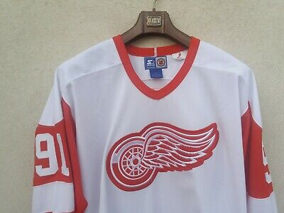 Starter rare vintage 90s jersey Fedorov Detroit Red Wings Hockey tee NHL t-shir