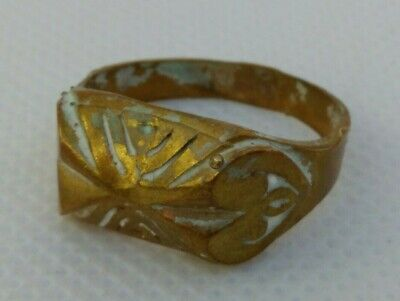 rare ancient bronze ring viking artifact bronze ring authentic