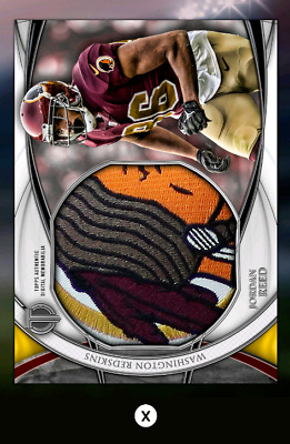 Jordan Reed-Tribute Drop 3-Silver Jumbo Relic-Topps Huddle 19 Digital
