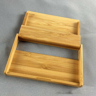 Wooden Name Card Business Card Holder Handmade Box Storage ID Credit Case LH