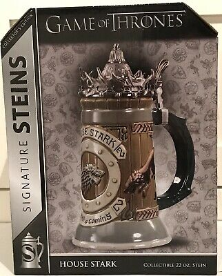Game Of Thrones House Stark Stein Official HBO Licensed Brand New