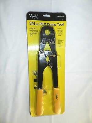 "Apollo 3/4"" PEX Crimp Crimping Tool 69PTKH00144, Includes Go/No Go Gauge"