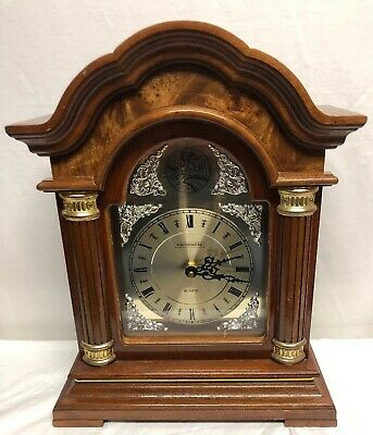 "J. C. Penney Westminister Chime Strike ""Tempus Fugit"" Wood Mantel Clock Quartz"