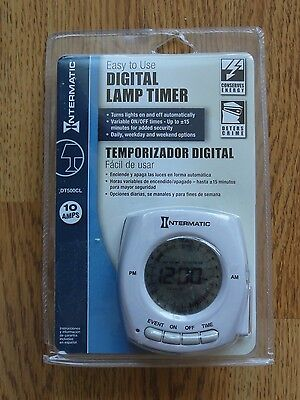 INTERMATIC DT500CH DIGITAL PLUG IN LAMP DAILY//WEEKLY//WEEKEND// EVENT TIMER 10 AMP