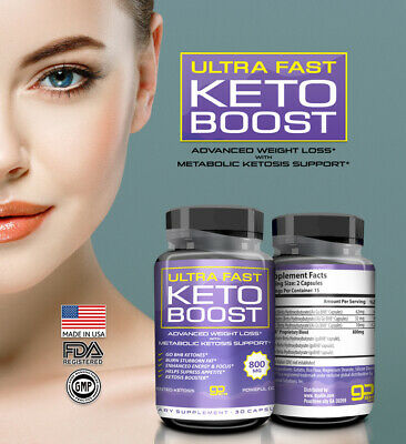 ☀ Best Keto Diet Pills 800 mg Burn Fat- Advanced Ketosis Weight Loss 30 Capsules