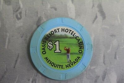 $1 poker chips by Paulson , OASIS RESORT HOTEL . CASINO , MESQUITE , NEVADA