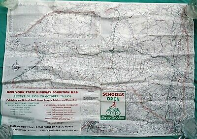 State of New York Highway Condition Map from Dept. of Public Works 1959