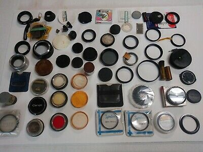 Vintage Lot Of Camera Lens And Accessories