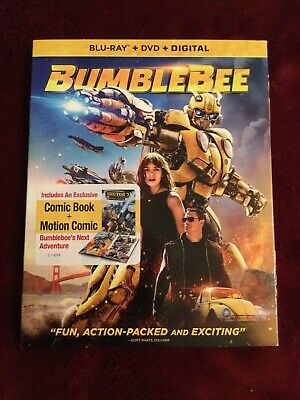 Transformers Bumblebee (Blu-ray + DVD + Digital; 2018) BRAND NEW with Slipcover