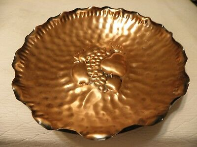 Large hammered copper center piece bowl
