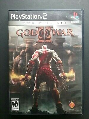 God of War II Sony PlayStation 2, 2007 2 Disc Set complete with manual, discs LN