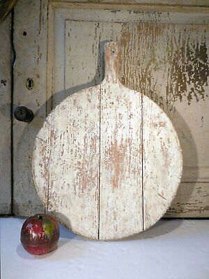 AAFA Primitive Painted Cutting Board Antique Pine Bread Board with Handle