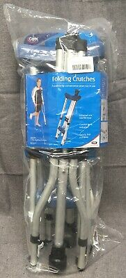 CAREX Quick Folding Crutches Adjustable for Youth/Adult Comfort Pad Grips 1 Pair