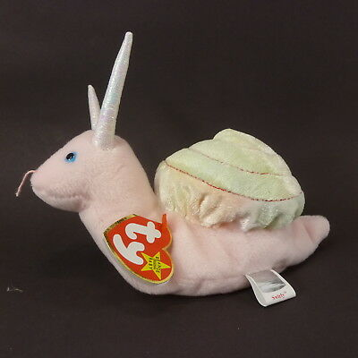 PE pellet 1999 Mint w// Tag Ty Beanie Babies Swirly the Snail