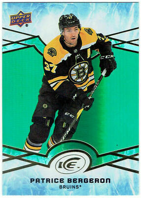 PATRICE BERGERON 2018-19 Upper Deck Ice Green Parallel #26 Boston Bruins UD