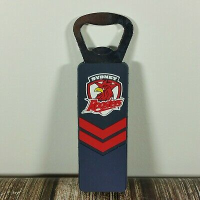 NRL Sydney Roosters Chooks Magnetic Rubber Bottle Opener rugby league