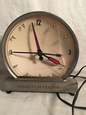 Vintage Mid Century Reverse painted dial kitchen shelf RETRO CLOCK Haddon ?