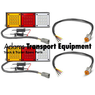 2x 280ARWM + Universal Patch Leads Plug & Play LED Tail Light Kit suit older 4WD