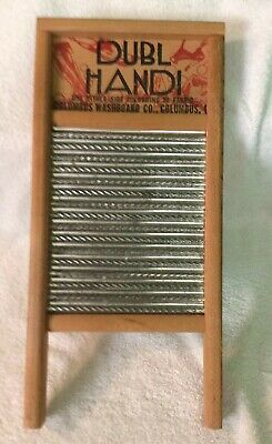 Vintage Columbus  Miniature Washboard. Dubl Handi. Nice Condition.