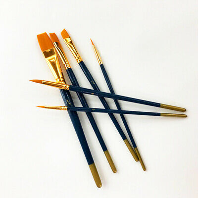 6 X Artist Paint Brushes Kit Watercolour Acrylic Oil Painting Face Paints Craft