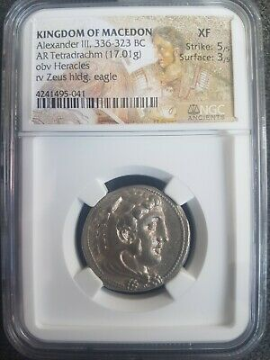 Kingdom Of Macedon Ar Tetradrachm Alexander Iii The Great 336-323 Bc Extra Fine