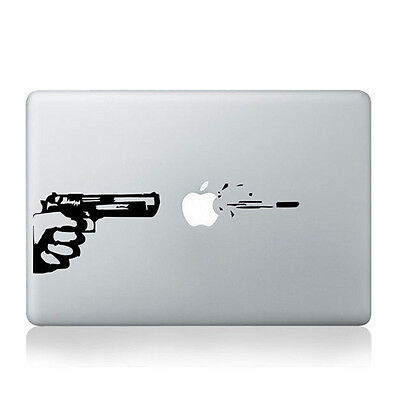 "Hot Gun Vinyl Decal Sticker for Apple Laptop MacBook Air 11'' 12"" 13'' 15'' 17''"