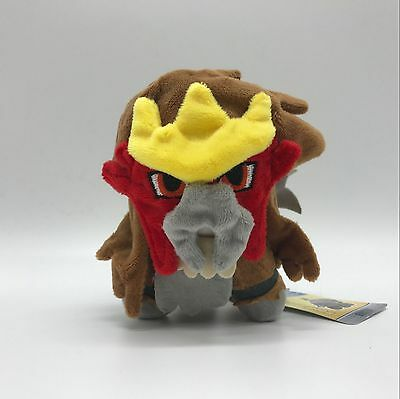 Pokemon Entei Plush Soft Toy Stuffed Animal Teddy Doll 7""