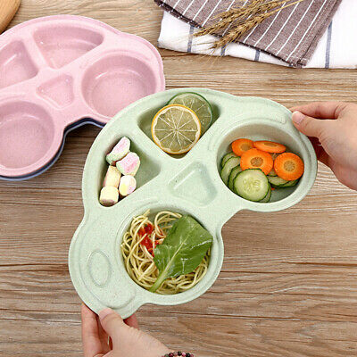 1Pc Kids Cute Silicone Happy Mat Baby Suction Table Food Tray Placemat Plate