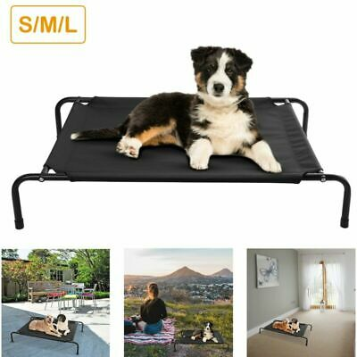 SML Elevated Dog Bed Lounger Sleep Pet Cat Raised Cot Hammock for Indoor Outdoor