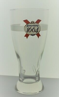 Kronenbourg Brewery 1664 French 12 Oz Beer Pint Glass France Glassware Embossed