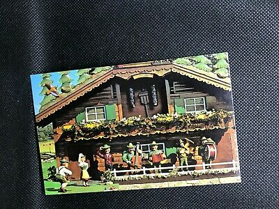 The World's Largest Cuckoo Clock Alpine Alpa Wilmot Ohio Postcard