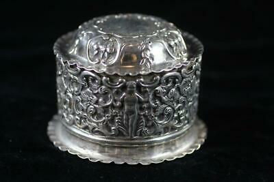 ANTIQUE ENGLISH LONDON 1888 STERLING SILVER LIDDED BOX 119.9g