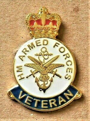Armed Forces Enamel Pin Badge Uk Veteran Remembrance D-Day 2019 Poppy Day