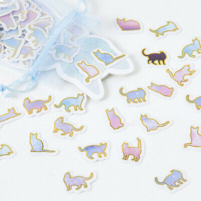 100Pcs/lot Cute Animal Cat Mini Paper Sticker DIY Diary Decoration Sticker