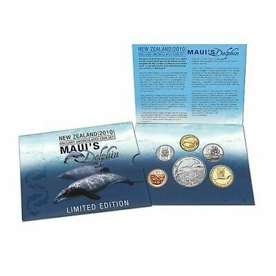2010 New Zealand Brilliant UNC Set with Annual Maui's Dolphin Coin