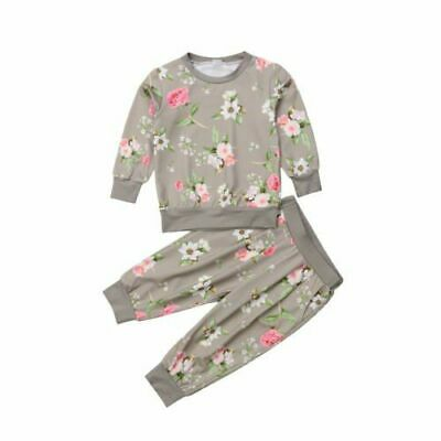 Baby Tracksuits Kids Girls Clothes Floral Cotton Tops Harem Pants Outfits Sets
